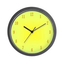 Yellow Glow With Numbers Wall Clock