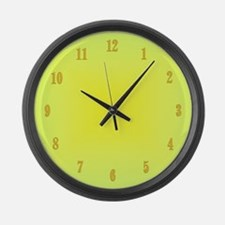 Yellow Glow With Numbers Large Wall Clock