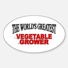 """""""The World's Greatest Vegetable Grower"""" Decal"""