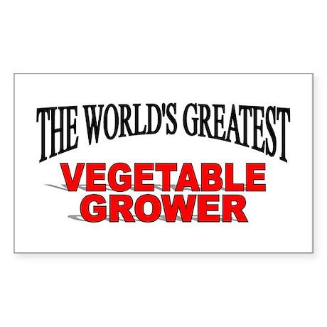 """The World's Greatest Vegetable Grower"" Sticker (R"