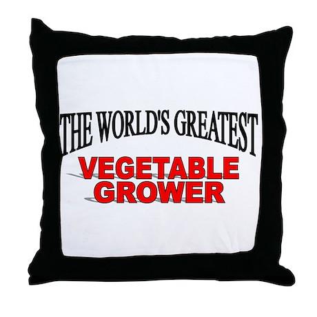 """The World's Greatest Vegetable Grower"" Throw Pill"
