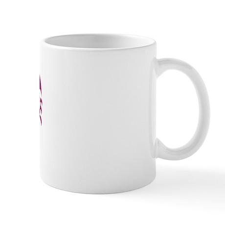 Sober Hottie Tattoo Pink Flames Mug