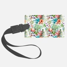 Watercolor Tropical Flamingos Luggage Tag