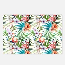 Watercolor Tropical Flami Postcards (Package of 8)