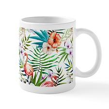 Watercolor Tropical Flamingos Mug