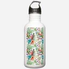 Watercolor Tropical Fl Water Bottle