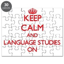 Keep Calm and Language Studies ON Puzzle