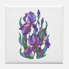 Purple Iris Tile Coaster