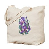 Purple iris Regular Canvas Tote Bag