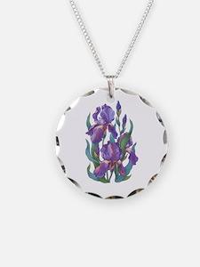 Purple Iris Necklace
