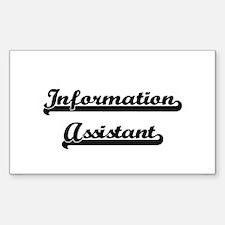 Information Assistant Artistic Job Design Decal