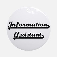 Information Assistant Artistic Jo Ornament (Round)
