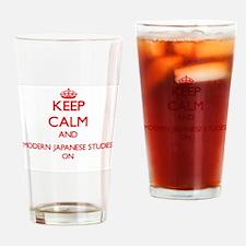 Keep Calm and Modern Japanese Studi Drinking Glass
