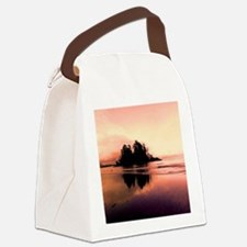 Red Long Beach Canvas Lunch Bag