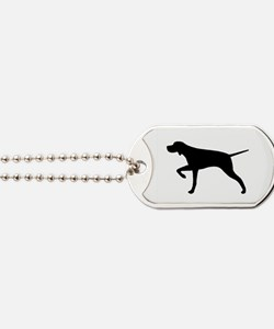 Pointer Silhouette Dog Tags