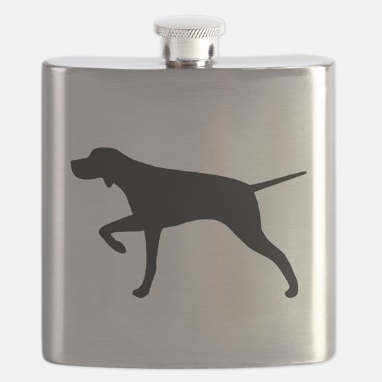 Pointer Silhouette Flask
