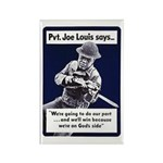Soldier On God's Side Rectangle Magnet