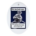 Soldier On God's Side Oval Ornament