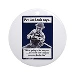 Soldier On God's Side Ornament (Round)