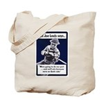 Soldier On God's Side Tote Bag
