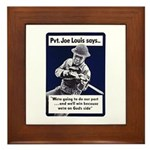 Soldier On God's Side Framed Tile