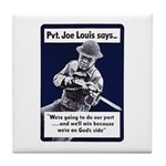 Soldier On God's Side Tile Coaster