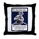 Soldier On God's Side Throw Pillow