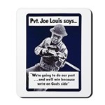 Soldier On God's Side Mousepad