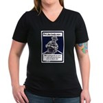 Soldier On God's Side (Front) Women's V-Neck Dark