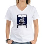 Soldier On God's Side (Front) Women's V-Neck T-Shi
