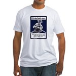 Soldier On God's Side (Front) Fitted T-Shirt