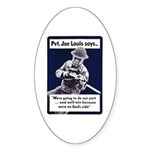 Soldier On God's Side Oval Sticker