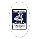 Soldier On God's Side Oval Sticker
