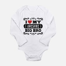 I Love My Awesome Big Long Sleeve Infant Bodysuit