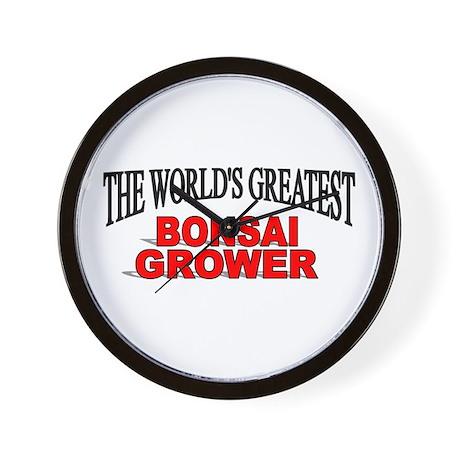 """The World's Greatest Bonsai Grower"" Wall Clock"