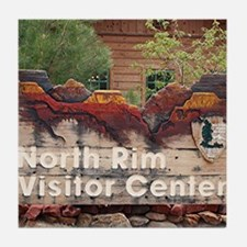 Grand Canyon North Rim Visitor Center Tile Coaster