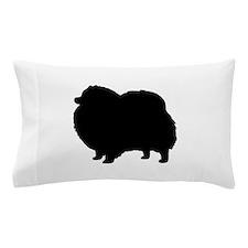 Pomeranian Silhouette Pillow Case
