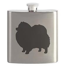 Pomeranian Silhouette Flask
