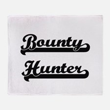 Bounty Hunter Artistic Job Design Throw Blanket