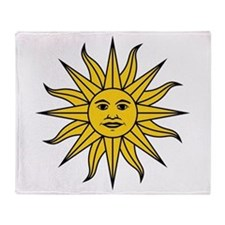 Sun of May Throw Blanket
