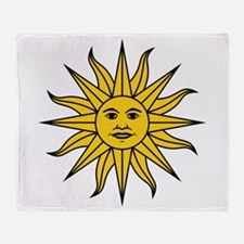 Sun of May Throw Blanket