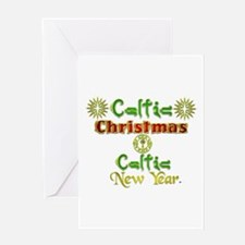 Celtic Xmas and New Year. Greeting Card