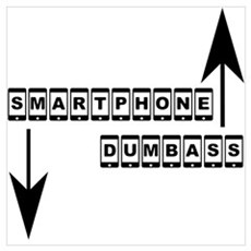 Smartphone and Dumbass 2 Canvas Art