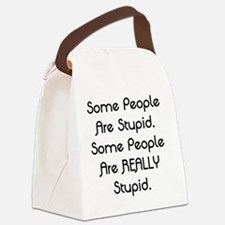 Really Stupid Canvas Lunch Bag