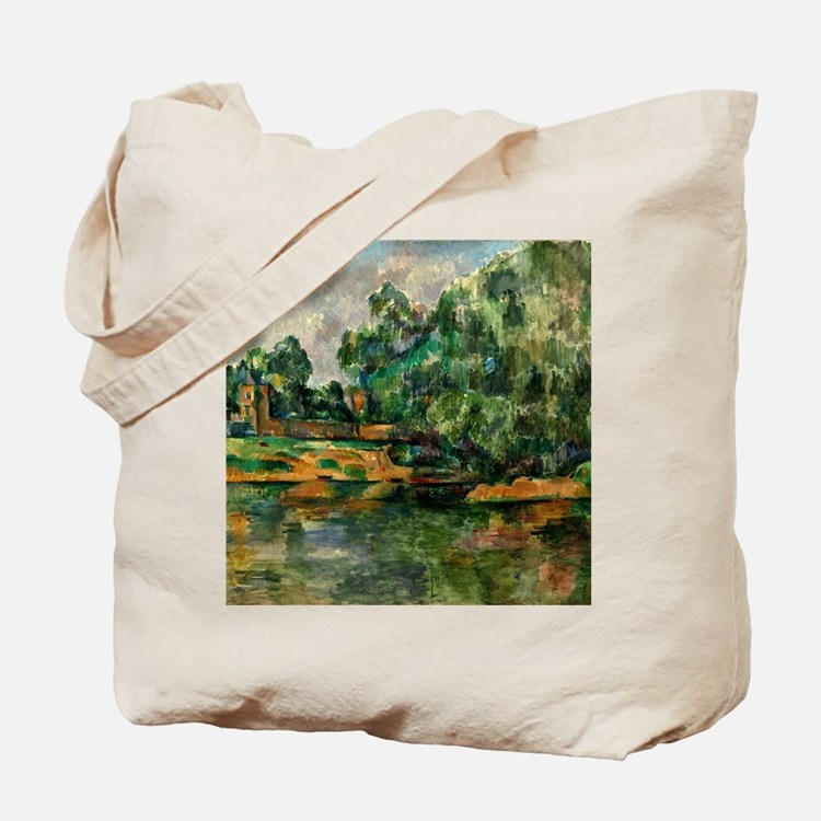 Cezanne - Riverbank Tote Bag
