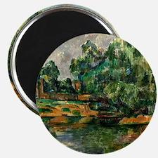 Cezanne - Riverbank Magnet