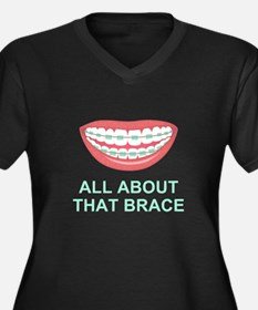 Funny All About That Brace Parody Plus Size T-Shir