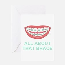 Funny All About That Brace Parody Greeting Cards
