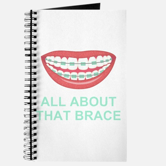 Funny All About That Brace Parody Journal
