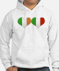 Irish and Italian Heart Flags Hoodie